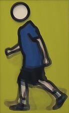 JULIAN OPIE 'Paul Running', 2012 Lenticular 3-D Motion Postcard **NEW**