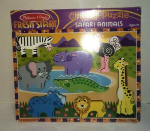 Melissa and Doug Chunky Play Puzzle - For Age 2+ Child / Kids - Safari Animals