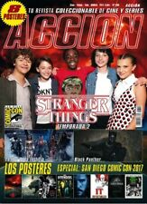 LAST IN STOCK!! Acción Magazine 1.709 + 8 Posters Sept 2017 Stranger Things S2