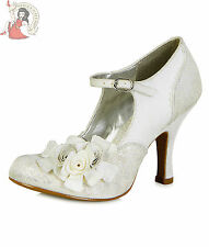 Ruby Shoo Emily Womens Special Occassion Silver Shoes UK 5 / EU 38