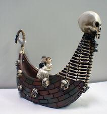 Haunted Ferry Boat Halloween Wedding Cake Topper Funny Skeleton Bride Groom top