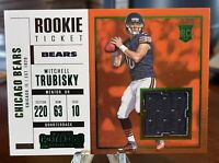 2017 Panini Contenders Rookie Ticket Green Mitchell Trubisky RC Jersey Bears RC