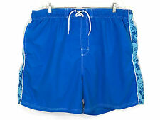 Faded Glory Lace Up Board Shorts Swim Trunks Pockets Men's Size 2XL XXL (44-46)