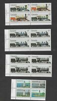 Canada 8 lower left plate blocks from 1984 and Sc. 1039a MNH VF