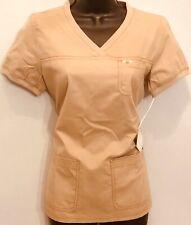 Koi by Kathy Peterson Scrub Set Shirt Top Xs and Pants Size Xs Tall Carmel