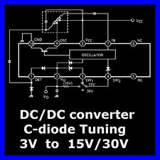 DC/DC converter 3V auf 30V TA8126F C-Diode Tuning AM FM UHF( 3 Stück )