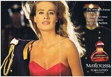 """PUBLICITE ADVERTISING 0941999 SLAVA ZAITSEV """"Maroussia"""" parfum (2p)       290914"""