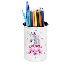 Pot à crayons Licorne personnalisé avec prénom