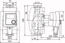 Heizungspumpe,  Wilo Stratos Pico 30/1-4 DE,  Hocheffizienz Umwälzpumpe