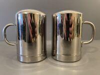 "Large Stainless Salt and Pepper Shaker Set - Commercial - Chefs Set - 4-1/2"""