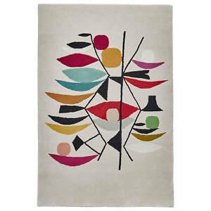 Think Rugs Inaluxe Designer Style Artwork Pattern Bright Cream / Multi Rugs