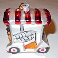 K & A Golf Cart Glass Ornament