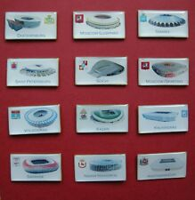 Set 12 pin badges - All STADIUMS of World Cup 2018 Russia