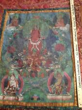Enormous RARE 18th-19th Century Real Tibet Temple Monk Painting Thangka Thanka