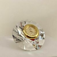 Miniature Crystal Diamond Clock Hand Crafted Vintage Shelf Desk Decoration
