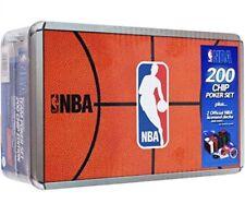 NBA 200 Chip Poker Set 2 Official Licensed Team Decks NBA Felt Topper Metal Box