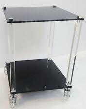 Tavolino Carrello in Plexiglass 35x35x40 Design Moderno