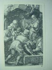 Albrecht DURER VINTAGE incisione su rame deposizione PASSIONE-N. 13