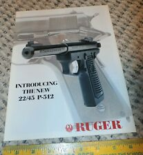Ruger 22/45 P-512 Pistol - Original Undated Brochure / Catalog