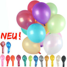 Luftballons Ø 30cm Farbauswahl metallic latex Helium Ballon Geburtstag Hochzeit