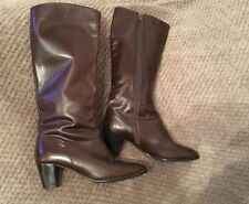 Ladies Brown Leather BOOTS Size 6