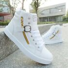 New Fashion Hip-Hop Men's Casual High Top Sport Sneakers Running Leather Shoes
