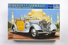 VINTAGE ITALERI ROLLS ROYCE TORPEDO CABRIOLET PHANTOM 1/24 AUTO CAR PLASTIC KIT