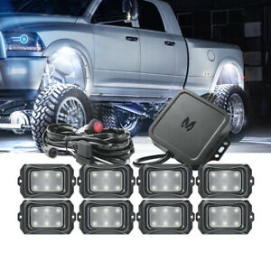 MICTUNING C2 8 Pods RGBW LED Rock Lights Multicolor Underglow Neon Offroad Lamp