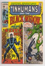 Amazing Adventures 5 Vf+ Inhumans Black Widow John Buscema Marvel Comics 1971