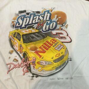 Rare2003 Vintage NASCAR  DALE EARNHARDT Jr SHIRT XL NOS Jumbo Print Nilla Wafers