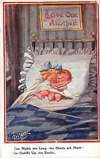 POSTCARD  COMIC   Children  Related   Cuddle  up                 GILSON