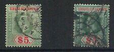 56310 - MALASYA S Straits Settlements -  POSTAL HISTORY:  SG 212 + 212b Used