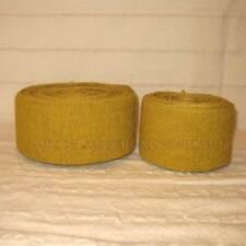 Gelbe Wadenwickel pflanzengefärbt 100% Schurwolle Fischgrat Beinwickel Meterware