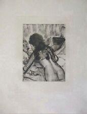 Edgar Degas Original Etching Mimes de Courtesanes I Limited 1935 Rare