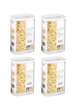 Mepal 106911030600 Modula Vorratsdose Kunststoff 2000 ml transparent/weiß (4er)