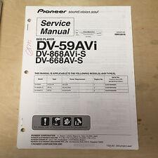 Pioneer Service Manual für die DV 59avi 868avi-s 668av-s DVD Player ~ Reparatur