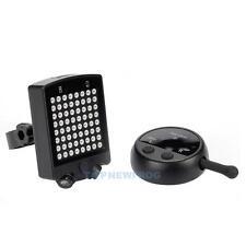 Fahrrad Rückseite Laserlicht Signal LED Wireless Remote USB Drehen Indicator