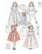 "6349 Vintage Slender Doll Pattern - Size 14"" - Year 1958"