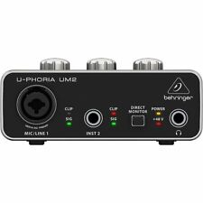 Behringer UM2 UPhoria USB Audio Interface + Tracktion 4 Audio Production Soft...