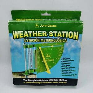 New John Deere Weather Station, Rain Gauge, Thermometer, Wind Speed & Direction