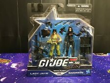 GI Joe 50th Anniversary Social Clash Lady Jaye vs. Baroness 2 Pack NEW!!