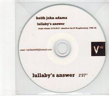 (GM566) Keith John Adams, Lullaby's Answer - 2015 DJ CD