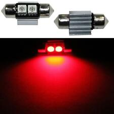 LED Festoon bombilla 31mm C5W ROJO Canbus + cooler Car Auto Coche Bulb