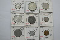 WORLD COINS USEFUL LOT MOSTLY HIGH GRADE B18 CM6 - 21