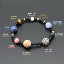 MINIVERSE BRACELET Planets Solar System Stone Gift Stretch Bangle Jewelry