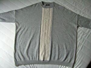Ladies Jumper - N Peal - New - 100% Cashmere - Grey/Cream