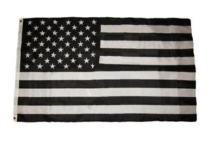 3x5 Black and White USA American Protest Anti Premium Quality Flag 3'x5'