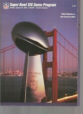 Super Bowl XIX San Francisco 49ers v Miami Dolphins~Program~Joe Montana v Marino