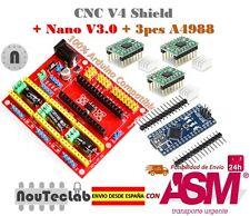 Nano V3.0 + CNC Shield V4 Expansion Board + 3pcs A4988 Stepper Motor Driver