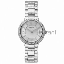 Fossil Original ES3282 Women's Virginia Silver Stainless Steel Watch 30mm